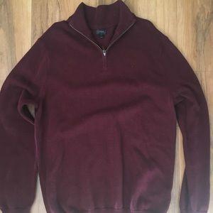 I Crew Men's quarter zip large Tall sweater